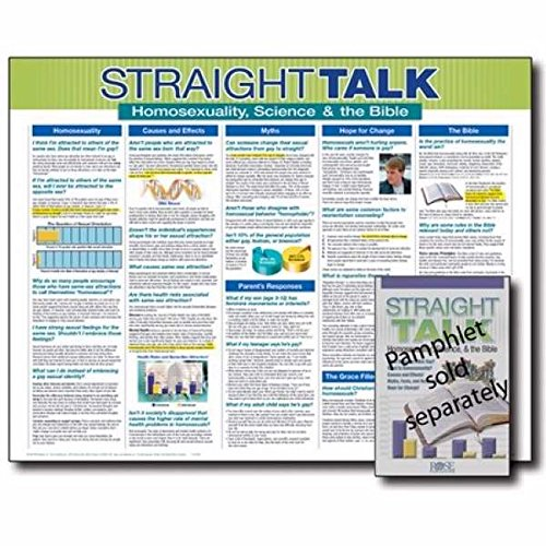 9781596360143: Straight Talk Wall Chart-Laminated (Straight Talk on Homosexuality, Science, and the Bible)