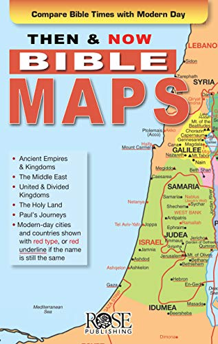 Then And Now Bible Maps Pamphlet (Single)