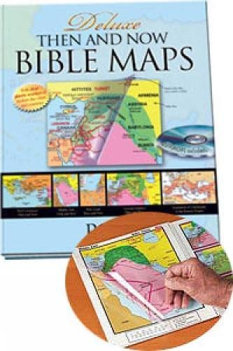 9781596361638: Deluxe Then and Now Bible Map Book with CD-ROM