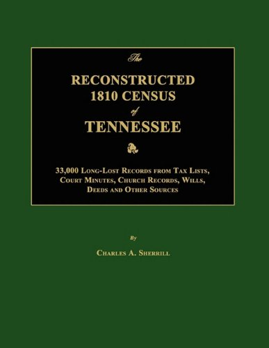 The Reconstructed 1810 Census of Tennessee: Charles A. Sherrill