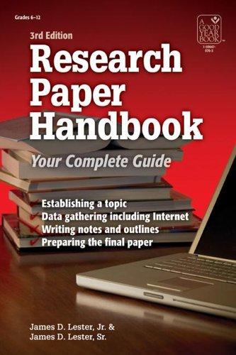 """Research Paper Handbook, 3E"""" (Research Paper Handbook): James D. Lester"""