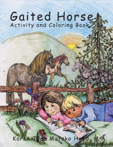 9781596496286: Gaited Horse Activity and Coloring Book