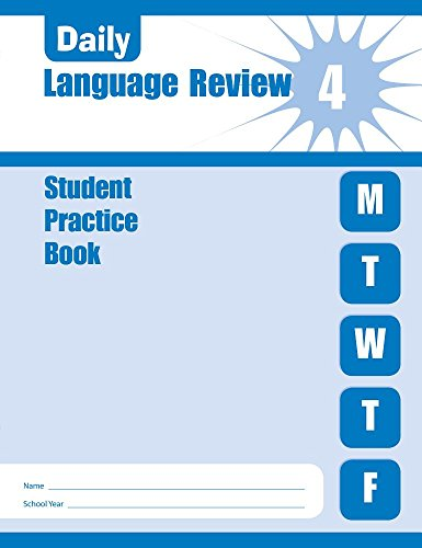 9781596730625: Daily Language Review, Grade 4: Student Practice Books 5-pack