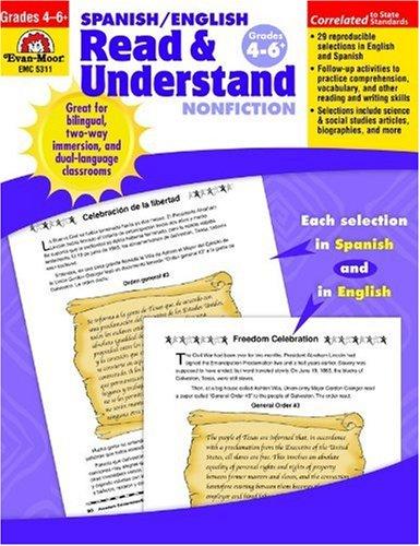 Spanish/English Read and Understand Nonfiction : Grades: Evan-Moor