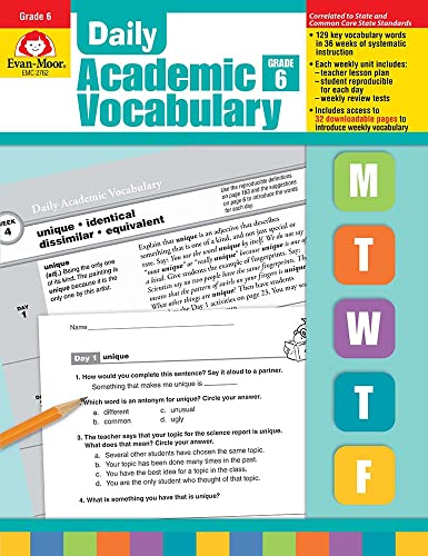 9781596732056: Daily Academic Vocabulary, Grade 6