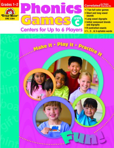 9781596732223: Phonics Games: Centers for Up to 6 Players, Level C