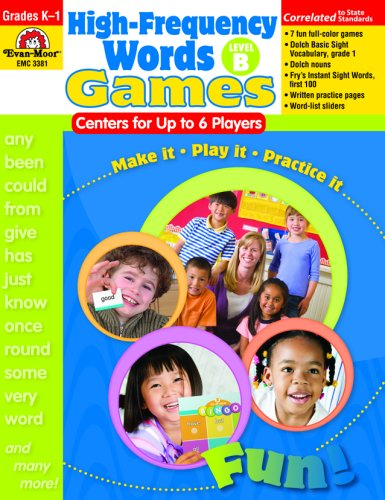 9781596732490: High-Frequency Words: Center Games for Up to 6 Players, Level B