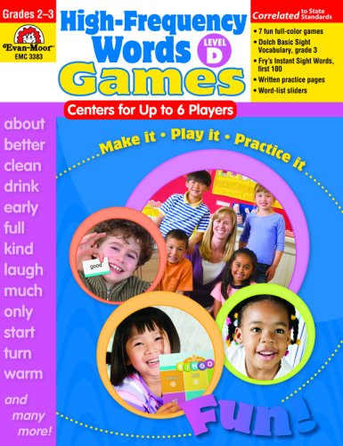 9781596732513: High-Frequency Words: Center Games for Up to 6 Players, Level D