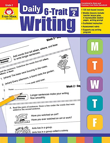 9781596732872: Evan-Moor Daily 6-Trait Writing, Grade 2 Teacher s Edition, 25 Weeks of Writing Activities for Second Graders