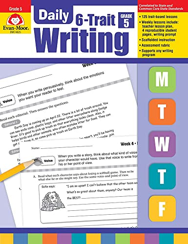 Daily 6-trait Writing, Grade 5: Evan-Moor Educational Publishers