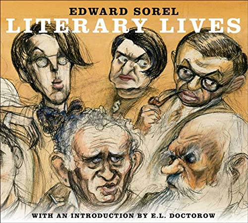 Literary Lives by Edward Sorel 2006 Hardcover 9781596910645 Award-winning caricaturist Edward Sorel uses his distinctive style to illustrate the strange and eccentric lives of ten iconic literary figures. Literary Lives features the brief, unauthorized biographies of ten larger-than-life literary figures: Tolstoy, Sartre, Eliot, Proust, Yeats, Brecht, Jung, Rand, Mailer, and Hellman. Amusing and sometimes hard to believe (but always absolutely true), Sorel's vignettes depict, among other sparkling moments, Proust investing in a male brothel so he can peep at its clientele through a keyhole; Rand launching a torrid affair with a protégé half her age; Hellman pleading the Fifth in front of the House Committee on Un-American Activities; Yeats attending his first séance; Simone de Beauvoir supplying Sartre with her students for his pleasure; Jung cozying up with the Nazis; Norman Mailer's disastrous candidacy for Mayor of New York; and Tolstoy setting his peasants free (and they, in turn, refusing to be emancipated).