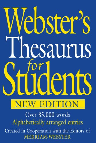 9781596950238: Webster's Thesaurus for Students, New Edition