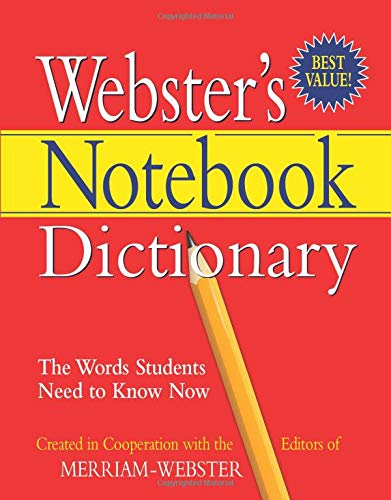 Merriam-Webster Notebook Dictionary, Three Hole Punched, Paperback,: Merriam-Webster