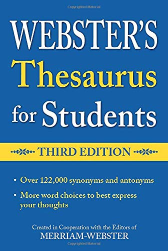 9781596950948: Webster's Thesaurus for Students, Third Edition