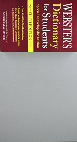 9781596951686: Webster's Dictionary for Students, Special Encyclopedic, Fifth Edition, Newest Edition