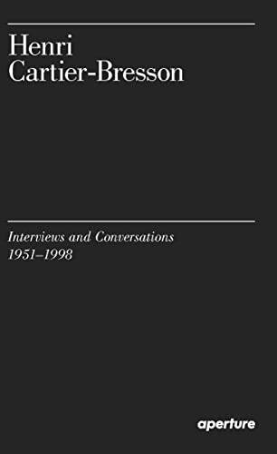 9781597113922: Henri Cartier-Bresson: Interviews and Conversations (1951-1998)