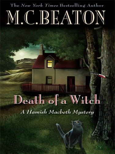 9781597229036: Death of a Witch (Wheeler Large Print Book Series)