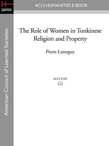 9781597407557: The Role of Women in Tonkinese Religion and Property