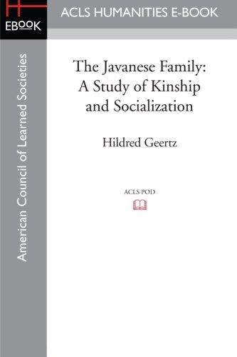 The Javanese Family: A Study of Kinship