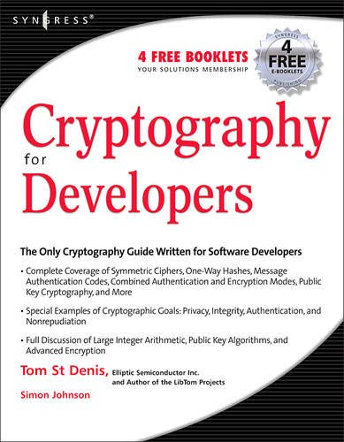 Cryptography for Developers: St Denis, Tom