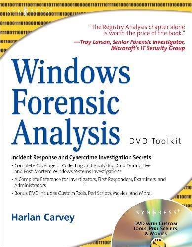 9781597491563: Windows Forensic Analysis Dvd Toolkit