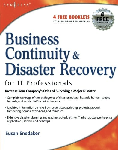 Business Continuity and Disaster Recovery Planning for: Snedaker, Susan