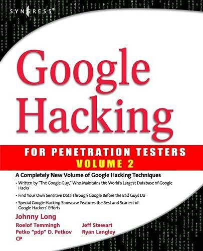 9781597491761: Google Hacking for Penetration Testers Anglais