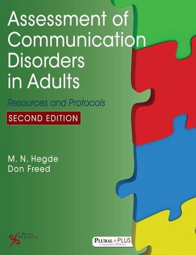 Assessment of Communication Disorders in Adults: M. N Hegde,
