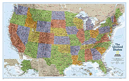 United States Explorer [Laminated] (Sheet Map, Rolled): National Geographic Maps