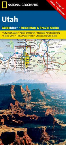 National Geographic Guide Map Utah