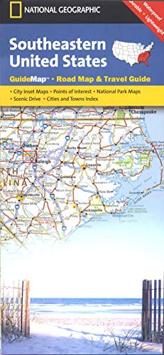 9781597750271: Southeastern USA (National Geographic Guide Map)