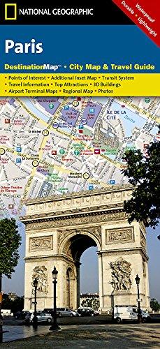 9781597750288: Paris (National Geographic Destination City Map)
