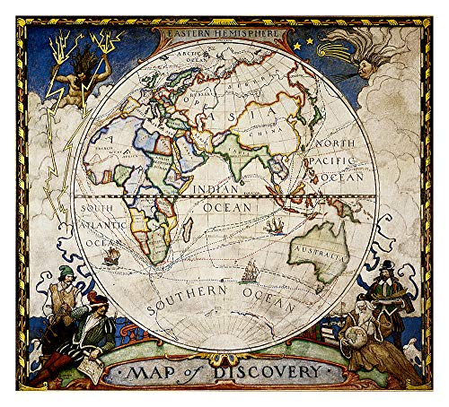 9781597750646: Map of Discovery, Eastern Hemisphere Wall Maps World: NG.PW620548 (Reference - World)
