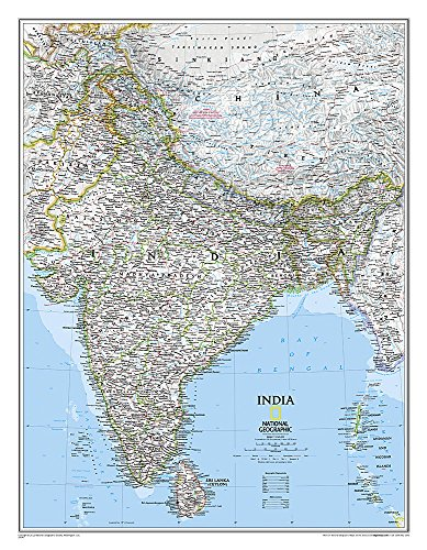 9781597750660: India Classic, tubed Wall Maps Countries & Regions (Reference - Countries & Regions)