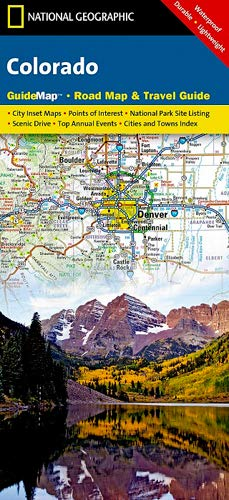 9781597750707: Colorado (National Geographic Guide Map)