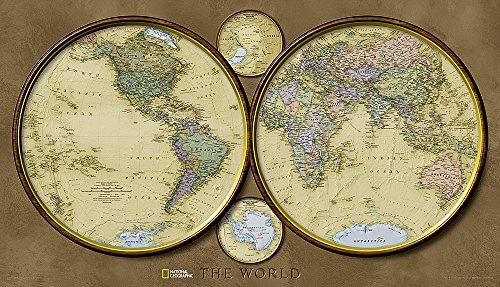 9781597750721: World Hemispheres [Laminated] (National Geographic Reference Map)