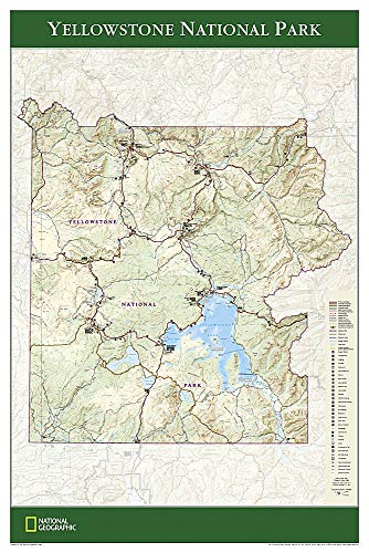 9781597750837: Yellowstone National Park (National Geographic Reference Map)