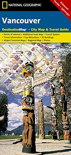 9781597750882: Vancouver (National Geographic Destination City Map)