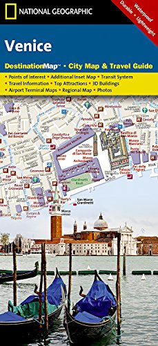 9781597750899: National Geographic DestinationMap Venice: City Map & Travel Guide 1:6 500