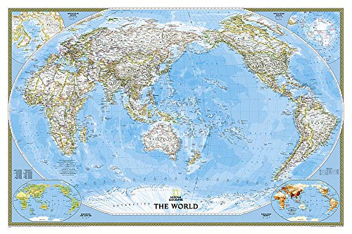 9781597751155: Pacific Centered Politique Classic Plastifie112 Cm X 76 Cm: PP.NGW1020324 (National Geographic Reference Map)