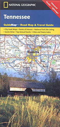 9781597751391: Tennessee (National Geographic Guide Map)