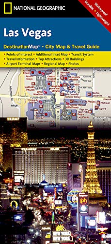 9781597751926: National Geographic Destination City Map Las Vegas: Waterproof, Durable, and Lightweight