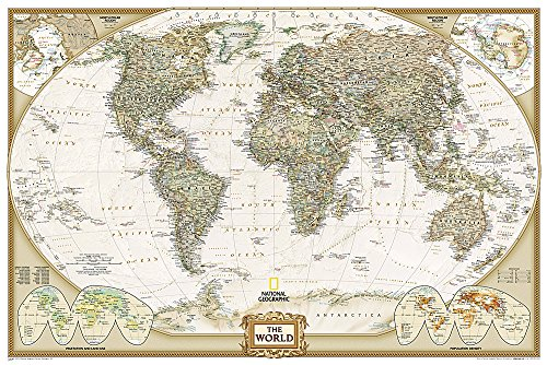 9781597752084: World Executive [Poster Size and Tubed] (National Geographic Reference Map)