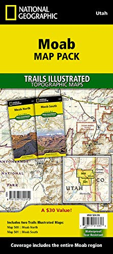 Moab [Map Pack Bundle] (National Geographic Trails Illustrated Map): National Geographic Maps - ...
