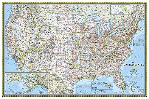9781597752183: United States Classic [Poster Size and Laminated] (National Geographic Reference Map)
