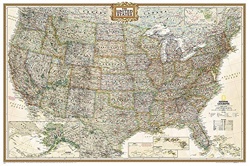 9781597752206: National Geographic: United States Executive Wall Map (Poster Size: 36 x 24 inches) (National Geographic Reference Map)