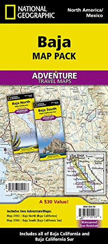 9781597752237: Baja Map Pack: National Geographic Adventure Maps