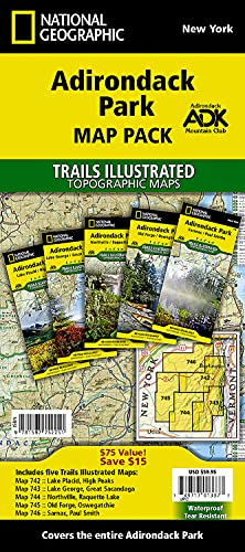 9781597752251: Adirondack Park [Map Pack Bundle] (National Geographic Trails Illustrated Map)
