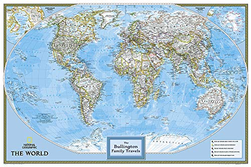 9781597752275: Personalized Map - World Classic: Wall Maps World