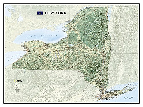 9781597752381: New York [Laminated] (National Geographic Reference Map)